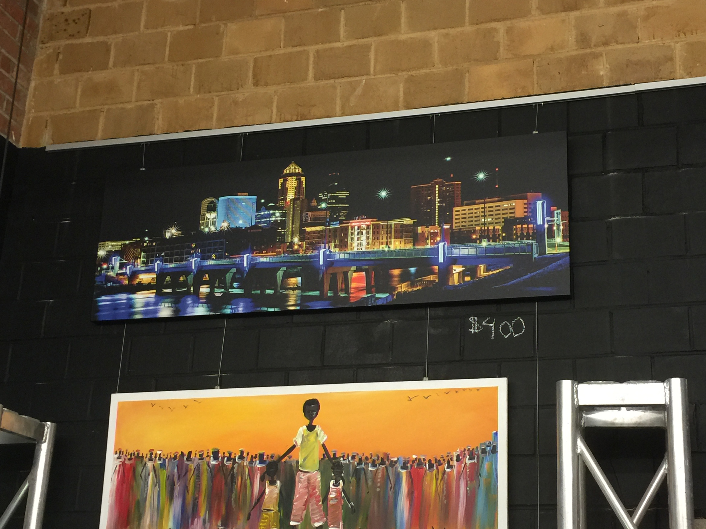 Select Rogers Photography prints on sale at the Viaduct Gallery inside the Des Moines Social Club