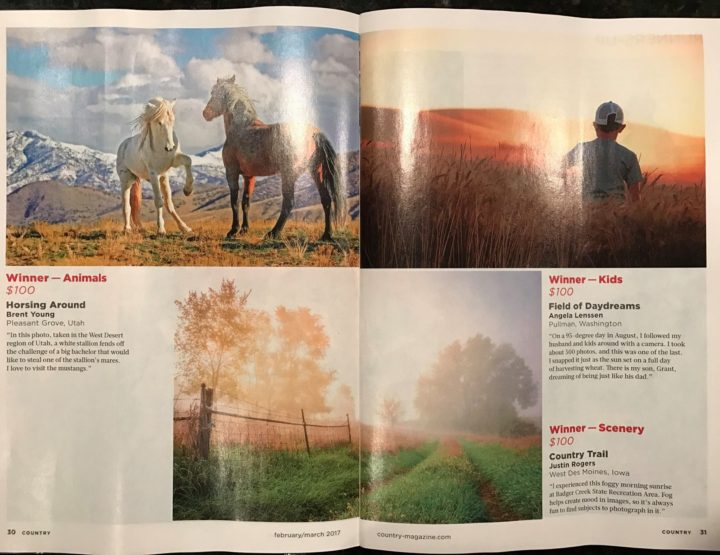 2017 Country Magazine Photo Contest Category Winner