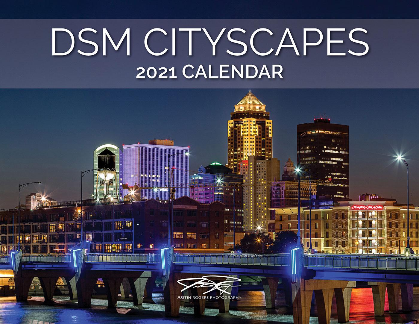 2021 Calendar: Des Moines Cityscapes